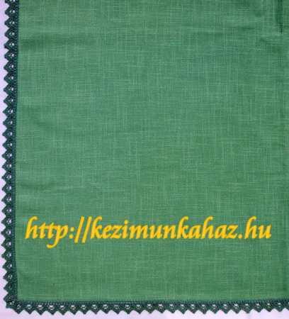 Napszövet terítő zöld csipkével