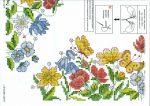 Mezei virágok - előfestett keresztszemes terítő
