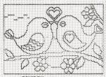Szerelmes madárkák - előnyomott gobelin