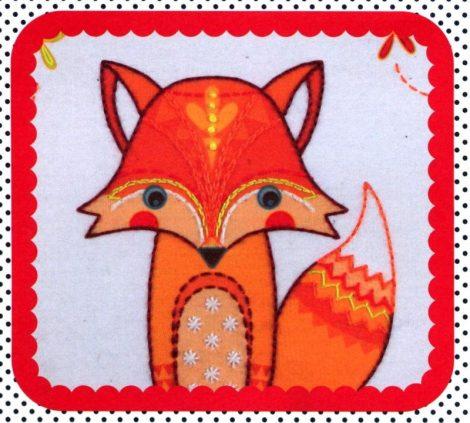 Róka - hímezhető kép készlet