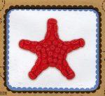 Tengeri csillag - hímezhető filc kép készlet