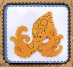 Kékgyűrűs polip - hímezhető filc kép készlet