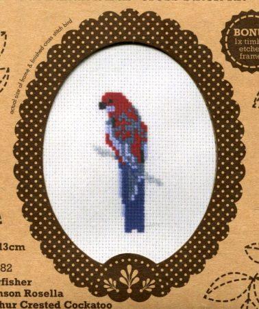 Ara papagáj - leszámolható keresztszemes keretes készlet