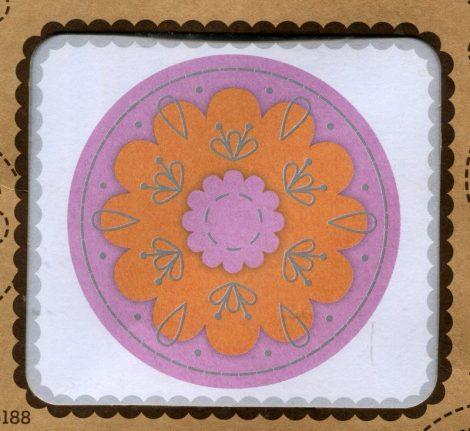 Virág - sárga - hímezhető bross készlet