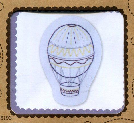 Hőlégballon - hímezhető kép készlet