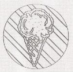Fagylalt - előnyomott gobelin