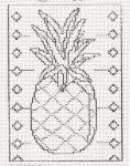 Ananász - előnyomott gobelin