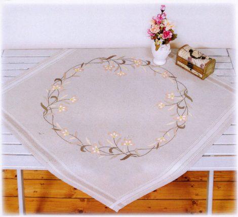 Rózsaszín virág - előfestett terítő készlet
