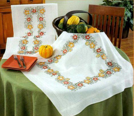 Csillagvirág - előfestett asztal terítő