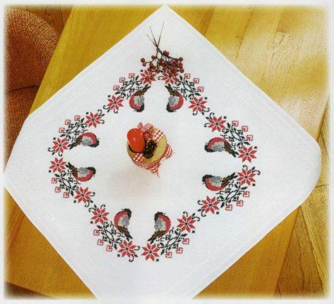 Norvég minta Süvöltő madárkával - előfestett keresztszemes terítő