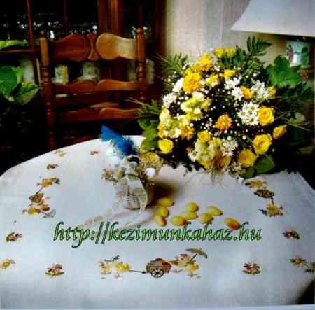 Húsvéti tojás szállítás - előfestett asztalterítő