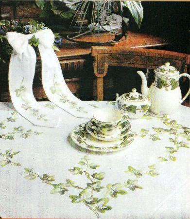 Borostyán - előfestett asztalterítő