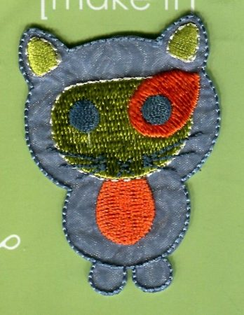 Foltos cica - ruhára vasalható textil matrica