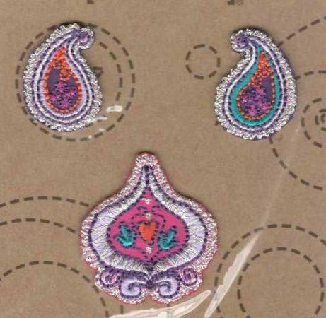 Paisley - ruhára vasalható textil matrica