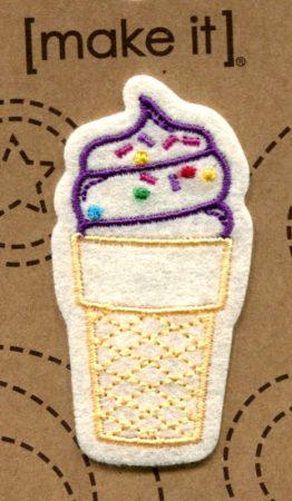Fagylalt - ruhára vasalható textil matrica