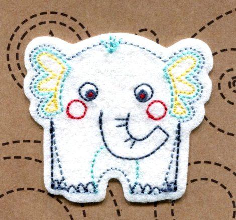 Elefánt - ruhára vasalható textil matrica