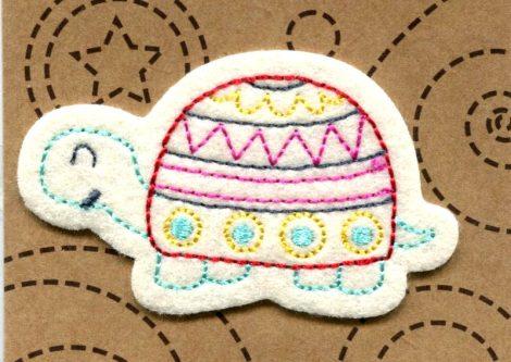 Teknős - ruhára vasalható textil matrica