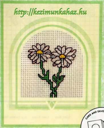 Százszorszépek - keresztszemes képeslap készlet