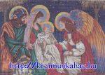 Szent család angyallal előnyomott gobelin