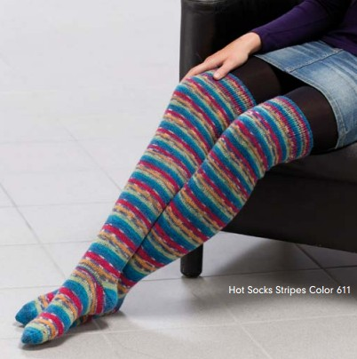 Hot socks stripes zoknikötő fonal