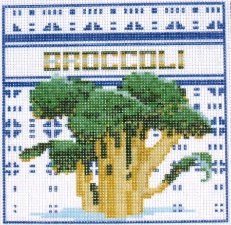 Brokkoli - előnyomott gobelin