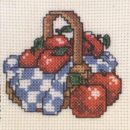 Egy kosár alma - leszámolható keresztszemes készlet
