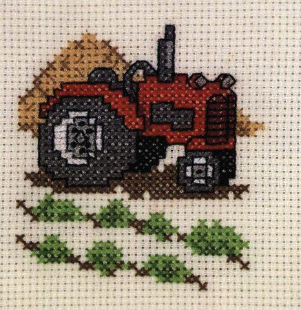 Traktor - leszámolható keresztszemes készlet