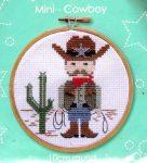 Cowboy - leszámolható keresztszemes hímzőrámás készlet