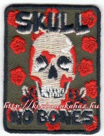 Koponya - ruhára vasalható textil matrica