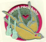 Sweet rock baby - ruhára vasalható textil matrica