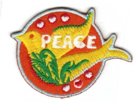 Béke galamb - ruhára vasalható textil matrica