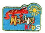Native kids - ruhára vasalható textil matrica