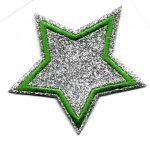 Csillag - ruhára vasalható textil matrica