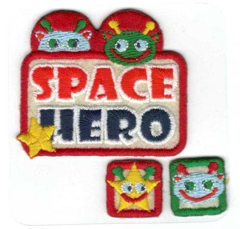 Space hősök - ruhára vasalható textil matrica
