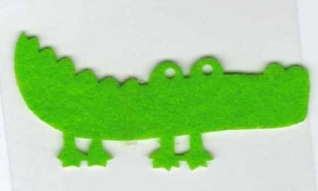 Zöld krokodil - ruhára vasalható filc matrica