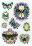 Állatok pillangók - ruhára vasalható matrica