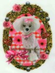 Állatok kutyus - ruhára vasalható matrica