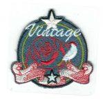 Vintage rózsa - ruhára vasalható textil matrica