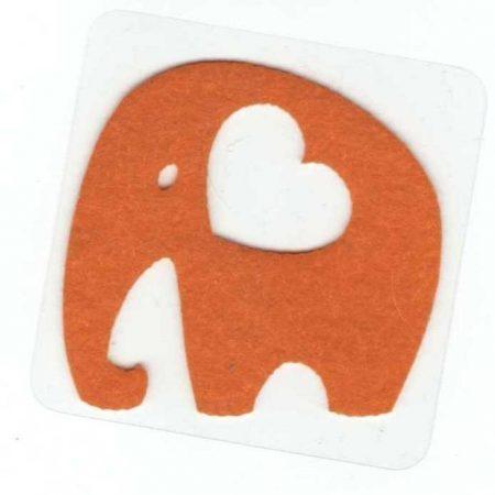 Elefánt - ruhára vasalható filc matrica