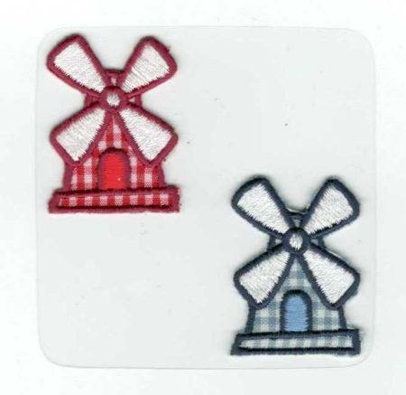 Szélmalom - ruhára vasalható textil matrica