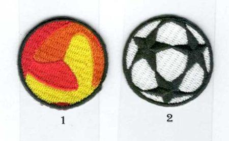 Focilabdák - ruhára vasalható textil matrica