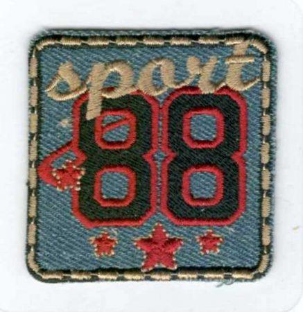 Sport 88 - ruhára vasalható textil matrica készlet