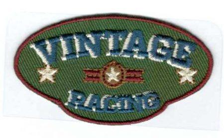 Vintage racing - ruhára vasalható textil matrica készlet