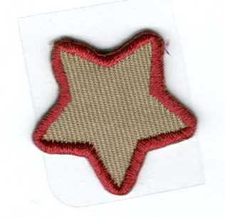Csillag - barna - ruhára vasalható textil matrica