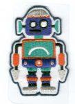 Robot - ruhára vasalható textil matrica