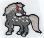 Ló - ruhára vasalható textil matrica