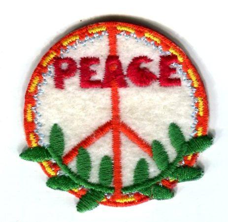 Peace - ruhára vasalható textil matrica