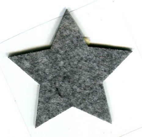 Csillag szürke - ruhára vasalható filc matrica