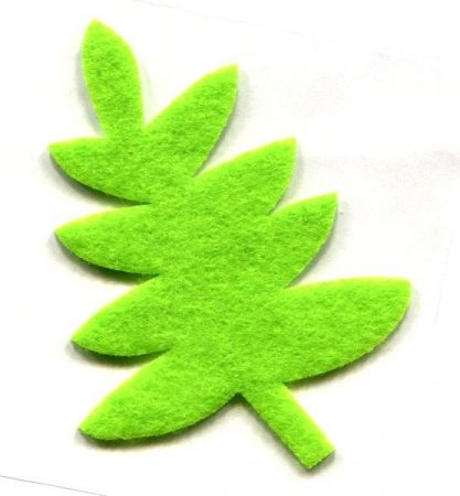 Levél zöld - ruhára vasalható filc matrica