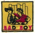 Bed boy - ruhára vasalható textil matrica